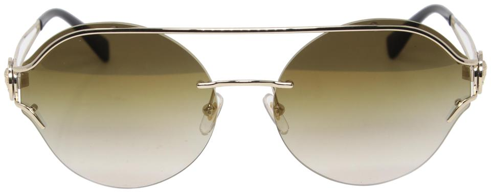 15254a8a9a731 Versace Green Brown Gradient Metal Frame The Manifesto Ve2184 Round ...