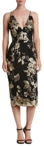 Dress the Population Embroidered Floral Fitted Dress