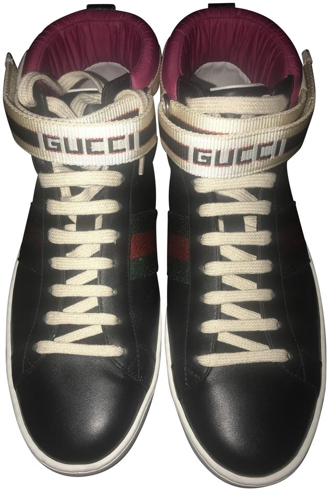 5118ee193131 Gucci Black Women s New Ace High Leather Sneakers Sneakers Size EU ...