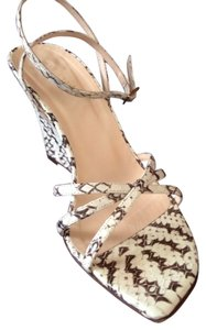 Kate Spade Wedge Snakeskin Natural Brown and Beige Wedges