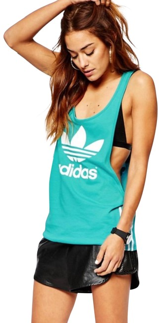adidas Turquoise Pharrell Williams Tank Top/Cami Size 4 (S) adidas Turquoise Pharrell Williams Tank Top/Cami Size 4 (S) Image 1