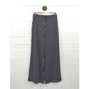 House of Harlow 1960 Fall Winter Holiday Striped Retro Wide Leg Pants Black/White