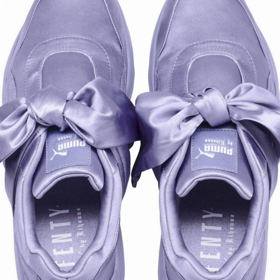 f74ea985f5c FENTY PUMA by Rihanna Lavender Satin Sneaker with A Bow Sneakers ...