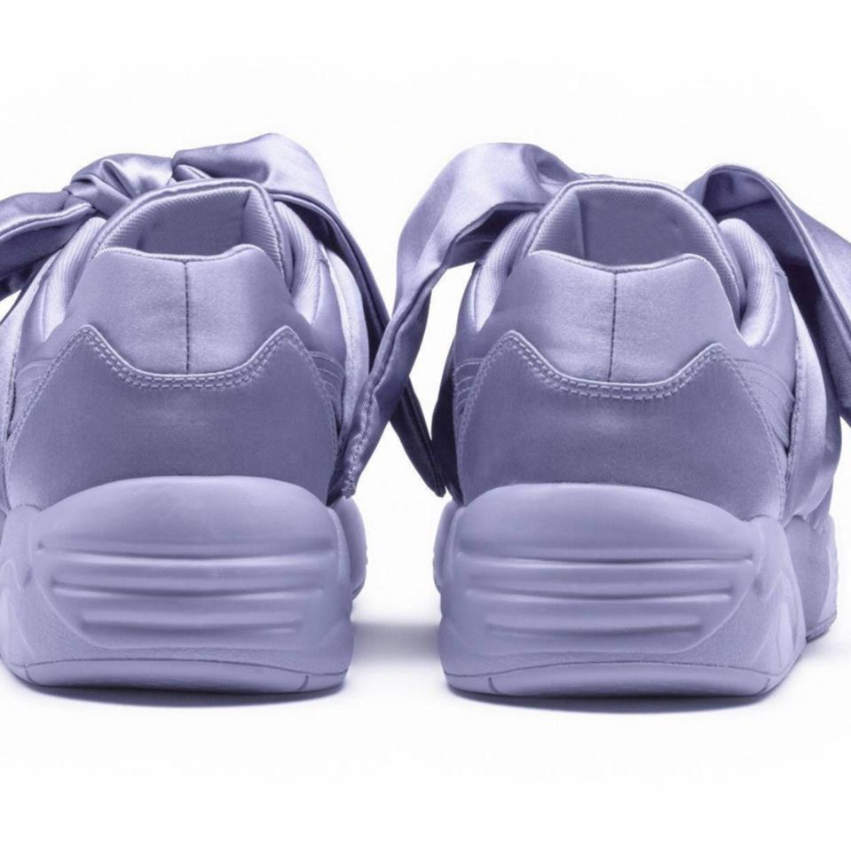 3fff37f29576dd FENTY PUMA by Rihanna Lavender Satin Sneaker with A Bow Sneakers. Size  US 9  ...