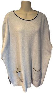 Joan Vass Sweatshirt Knit Tunic Cotton Sweater