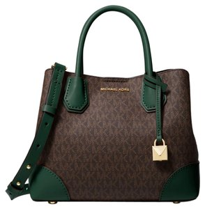 Michael Kors Canvas Green/Brown 30h8gz5s5v Satchel in Racing Green/Brown