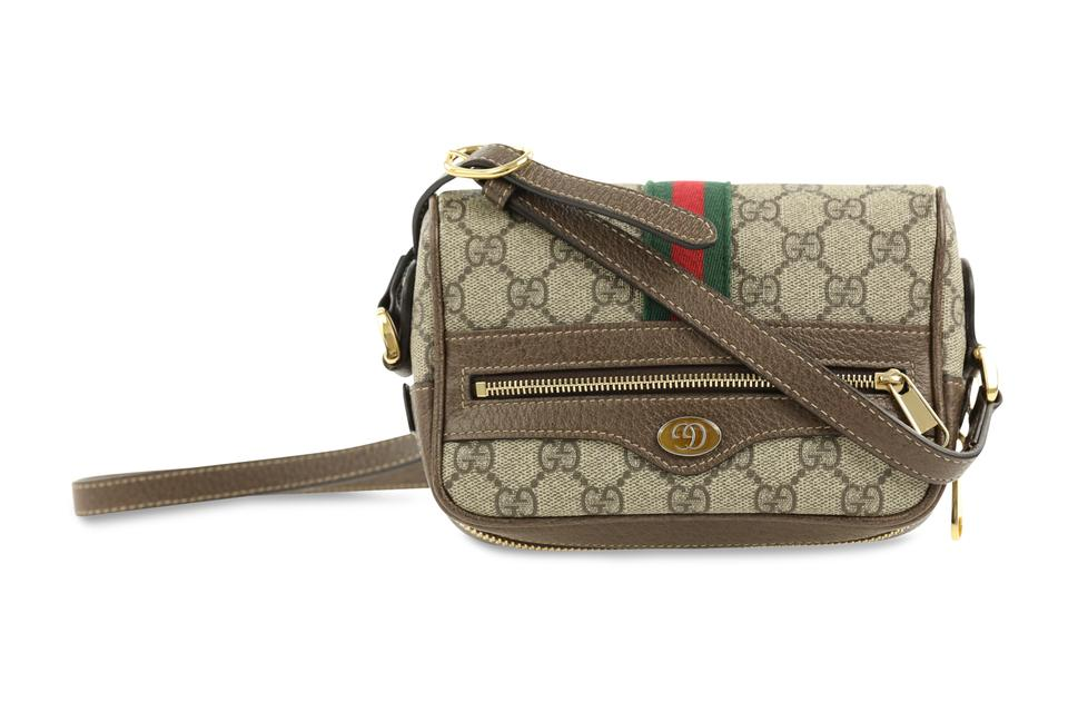 0937d9b568a Gucci Ophidia Mini Brown Canvas Cross Body Bag - Tradesy