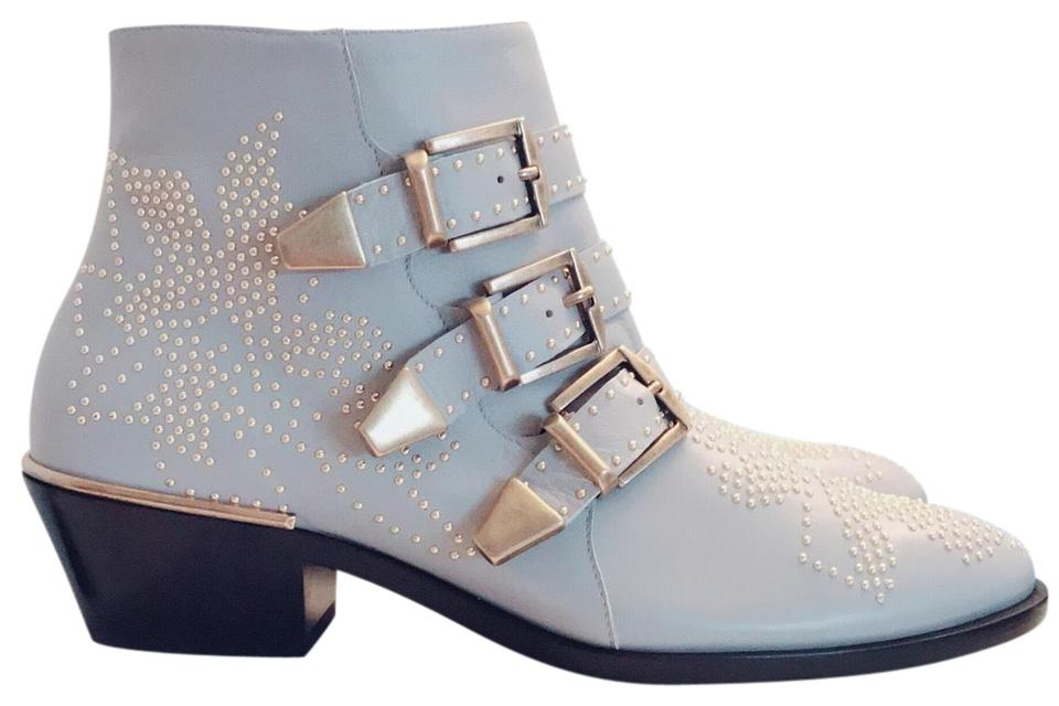 ff38594e Chloé Silver Gray Suzanna 30mm Boots/Booties Size EU 37 (Approx. US 7)  Regular (M, B)