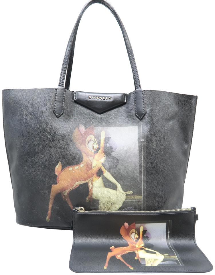 a3eca6461d Givenchy Bambi Antigona Small Leather Shopping and Matching Pochette ...