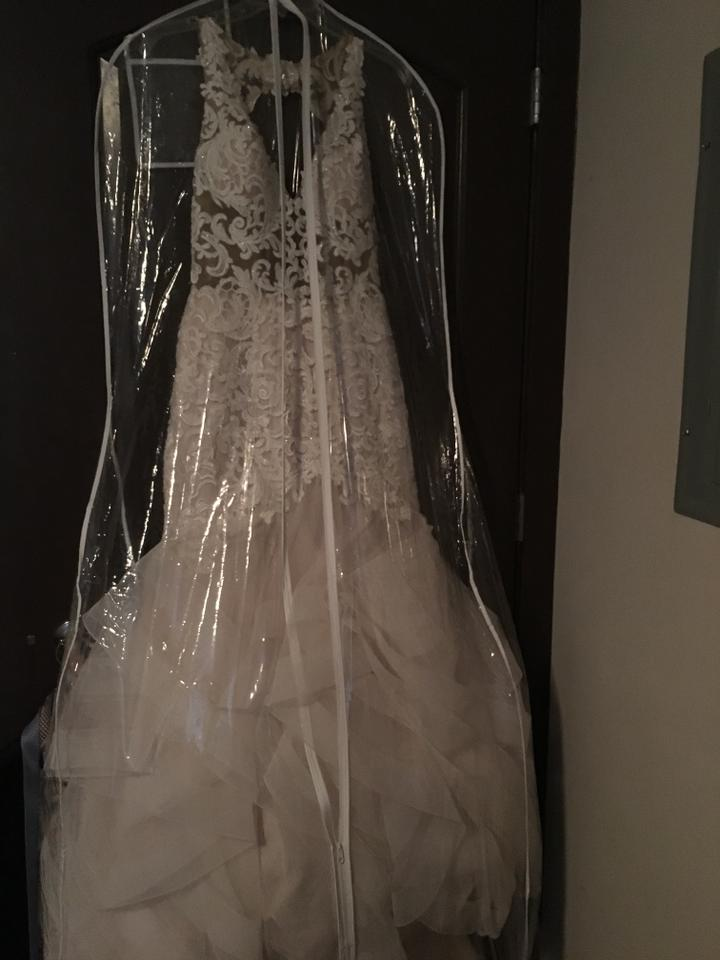 02051f543a84 Mori Lee Ivory/Rose Polyester Kayla 8224 Sexy Wedding Dress Size 4 ...