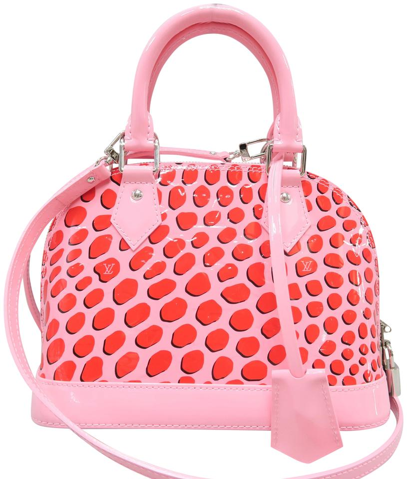 Louis Vuitton Alma 2016 Bb Jungle Dots Pink Vernis Shoulder Bag ... 9b80fe27e7