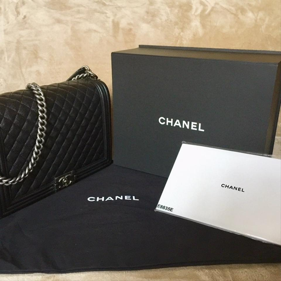 484d0345495e Chanel Boy Large Flapbag with Grained Ruthenium-finish Metal Black ...