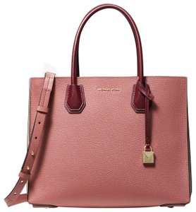 1d5020eea142 Added to Shopping Bag. Michael Kors Leather 30t8tm9t3l Rose/Multi Tote in  Rose/Multi. Michael Kors Mercer Large Pebbled Accordion ...