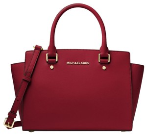 Michael Kors Leather 30s3glms2l Satchel in Maroon