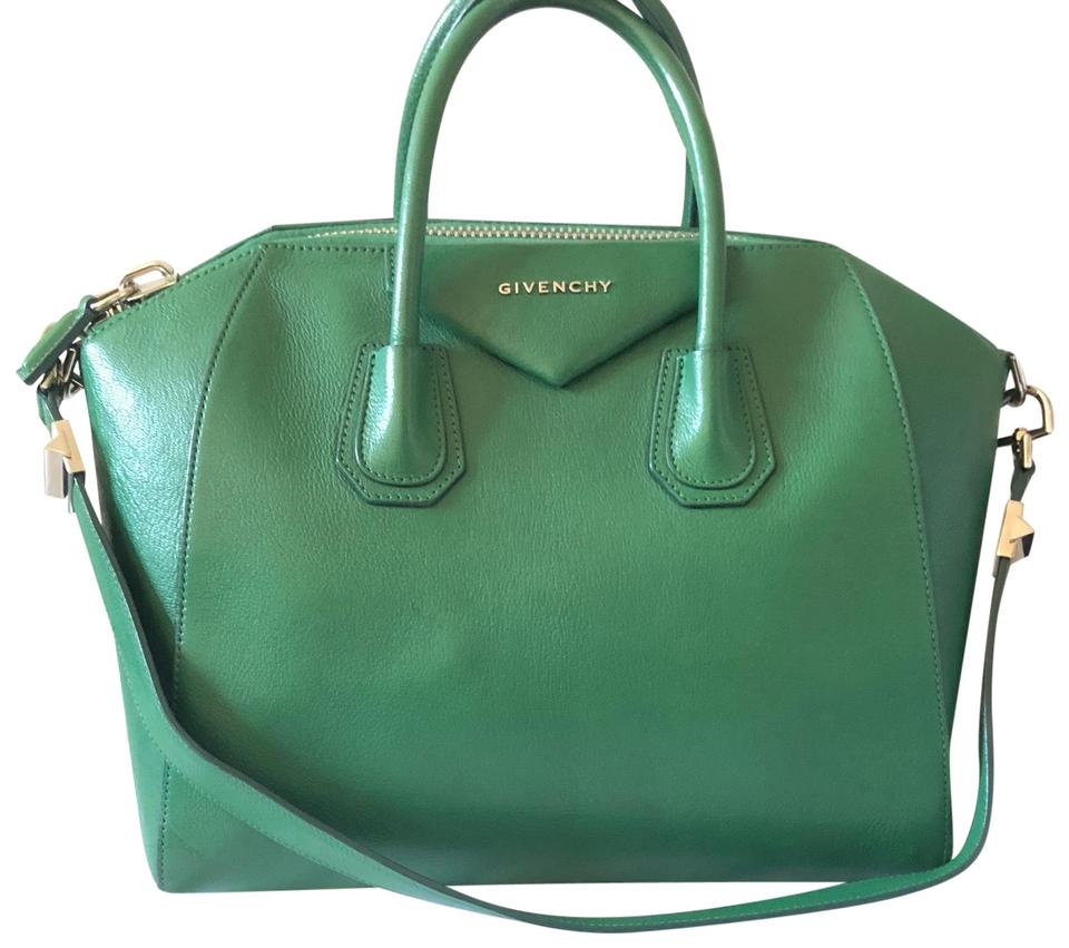 47a6a7c71e Givenchy Antigona Medium Tote Green Leather Satchel - Tradesy
