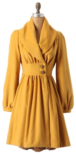 Item - Yellow Ruched Marigold M From Plenty By Tracy Reese Coat Size 6 (S)