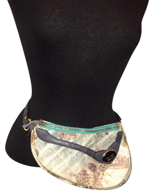 Item - Freedom Fanny Pack Blue & Green Canvas Baguette