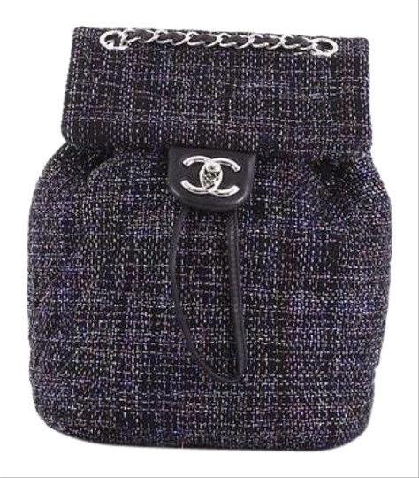 f4e4de3b9179 Chanel Urban Spirit Quilted Small Black Tweed Backpack - Tradesy