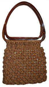 unknown Vintage Tote in tan, gold & brown