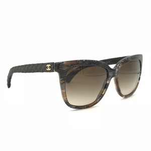 68f6cfd9d2 Chanel Cat Eye Brown Gradient Denim Sunglasses 5343 1554 S5