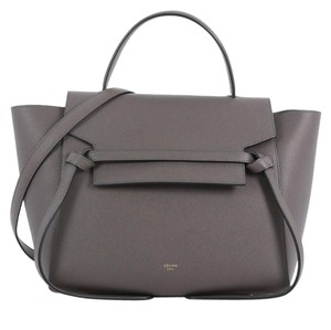 Céline Beltbag Leather Satchel in gray