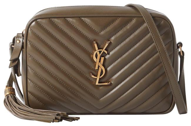 Item - Monogram Lou Camera Ysl In Quilted Anemone Green Leather Cross Body Bag