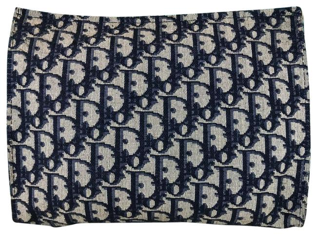 Item - Navy Blue Pouch Trotter Canvas Cosmetic Bag