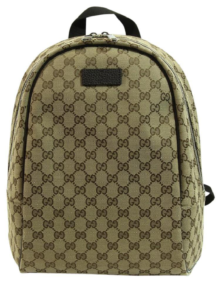02289ac4fe9 Gucci Gg Guccissima Travel Brown Canvas Backpack - Tradesy