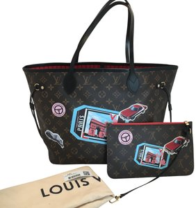 Louis Vuitton World Tour Neverfull Mm Limited Edition Tote in Brown