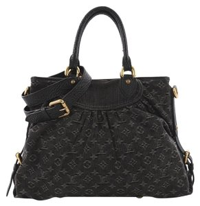 Louis Vuitton Handbag Denim Tote In Black