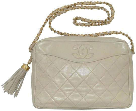 c67e3da9d52c Chanel Camera Off-white Vintage Quilted 1980's Cream Leather ...