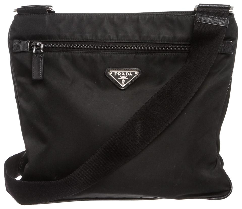 2e26cd77b198 Prada Shoulder Black Nylon Cross Body Bag - Tradesy