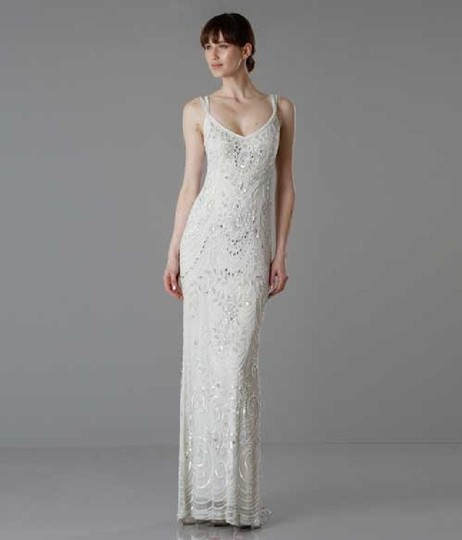 BHLDN Ivory Elsa Theia 890046 Vintage Wedding Dress Size 12 (L) Image 1