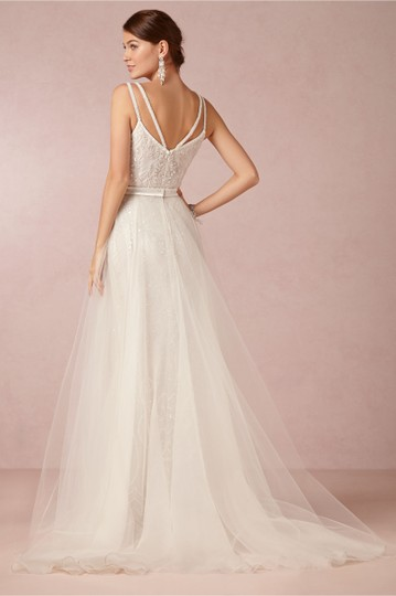 BHLDN Ivory Elsa Theia 890046 Vintage Wedding Dress Size 12 (L) Image 3