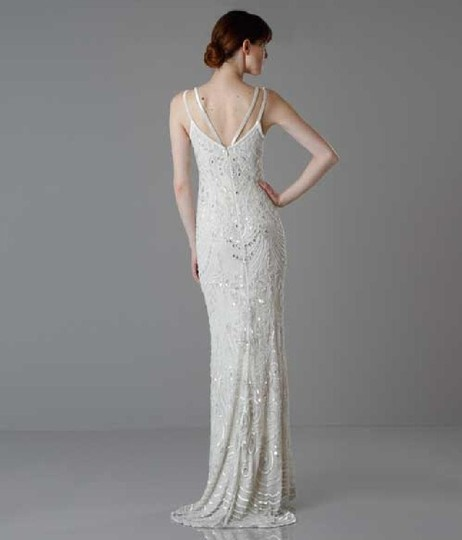 BHLDN Ivory Elsa Theia 890046 Vintage Wedding Dress Size 12 (L) Image 6