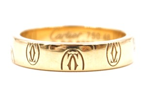 Cartier gold Happy Birthday band ring size 48