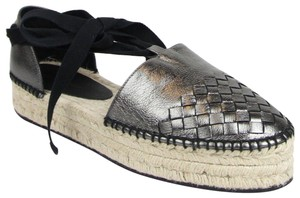 Bottega Veneta Women's Furrow Leather Metallic Platforms