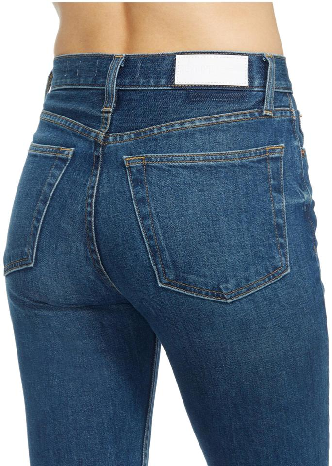 9bba584b1e2f RE DONE Stretch High Rise Ankle Crop In Forever Rinse Capri Cropped Jeans
