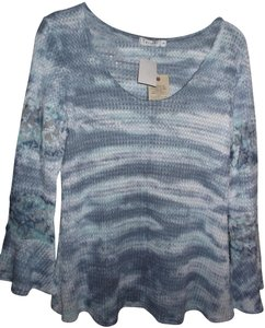 T Party Fashion Top BLUE/WHITE