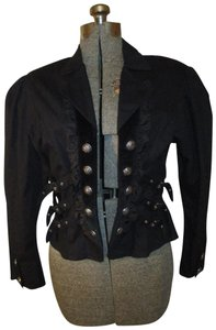 Funhouse Cotton Steampunk Cropped Pyramidcollection 001 Military Jacket