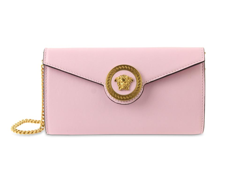 8aa9cc9db2 Versace Medusa Chain Wallet Pink Leather Cross Body Bag - Tradesy