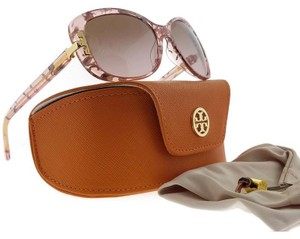 Tory Burch TY7090A-155214-56 Cat Eye Women's Pink Frame Brown Lens Sunglasses NWT