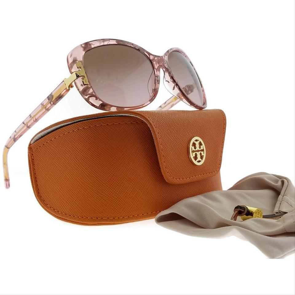 e7f6bc0c0108 Tory Burch TY7090A-155214-56 Cat Eye Women's Pink Frame Brown Lens  Sunglasses NWT. 123456