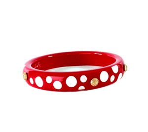 Louis Vuitton Louis Vuitton Kusama Bangle Red Dots Bracelet Limited Edition