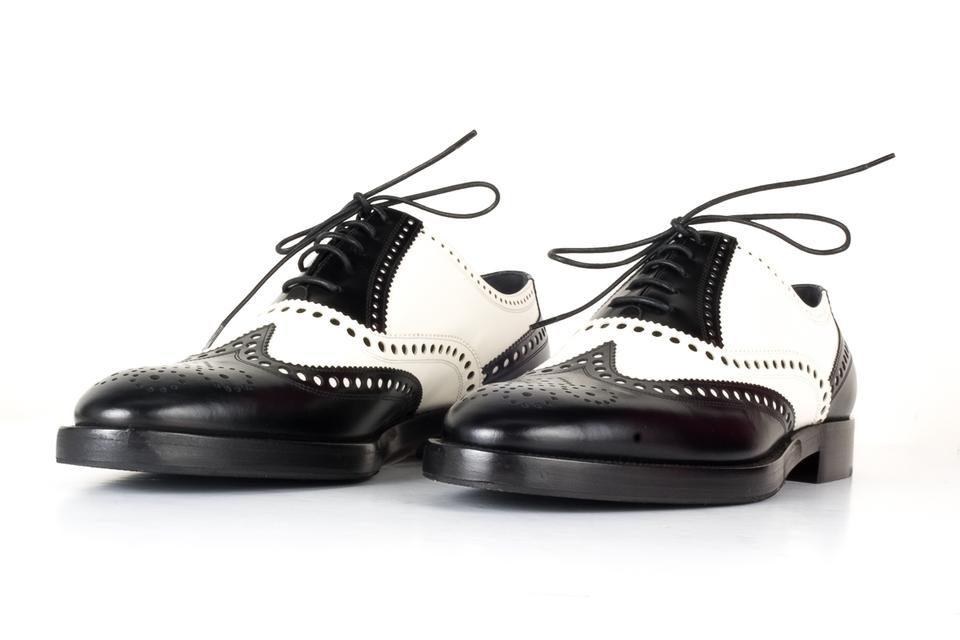 1396f4d22 Dior Black Christian and White Oxford Flats Size EU 40 (Approx. US 10)  Regular (M, B) - Tradesy