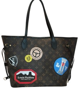 Louis Vuitton Neverfull Mm World Tour Tote in Brown