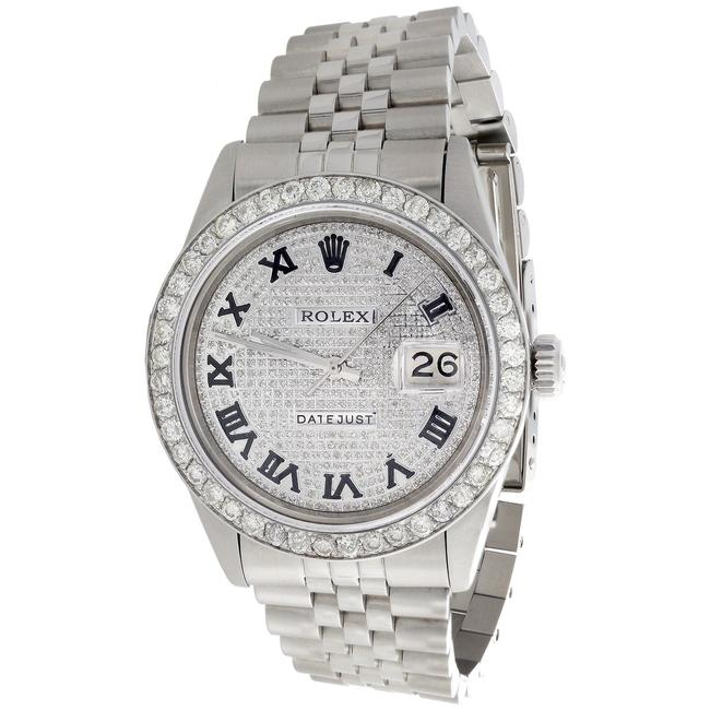 Rolex Stainless Steel / Diamond Dial Mens 36mm Datejust Ref. # 1601 Jubilee Band 4 Ct. Watch Rolex Stainless Steel / Diamond Dial Mens 36mm Datejust Ref. # 1601 Jubilee Band 4 Ct. Watch Image 1