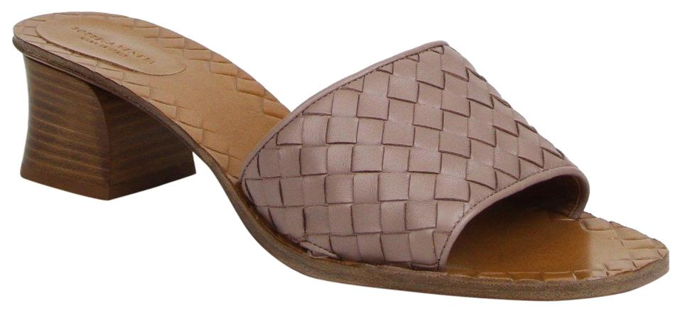 989fdc896a8a7c Bottega Veneta Desert Rose Women s Leather Slip-on Sandal 40.5 Us 451728  5719 Mules Slides