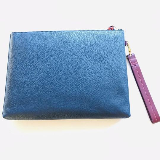 Tory Burch Horse Logo Wristlet in Blue Image 4