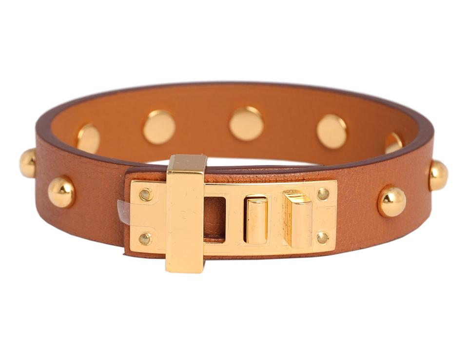 21d5fc011b Hermès GOLD SWIFT MINI DOG CLOUS RONDS BRACELET Image 0 ...